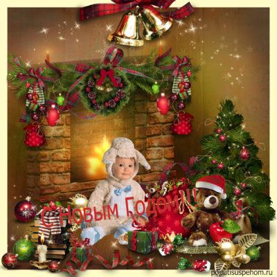 Как сделать новогоднюю открытку в фотошоп?